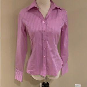 Ann Taylor Orchid Tone On Tone Stripe  Shirt. XS